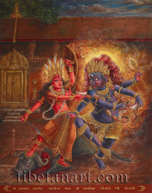 Kaumari With Chanda Bhairava