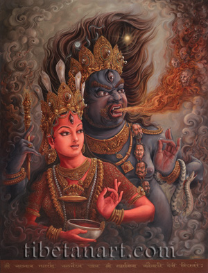 Heads of Bhairava and Kaumari