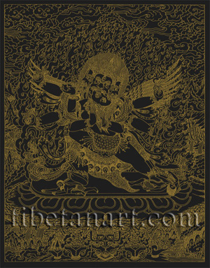 Vajrakila [Gold on Black]