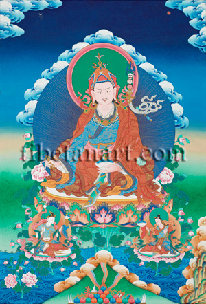 Padmasambhava and his Consorts (Guru Rinpoche)