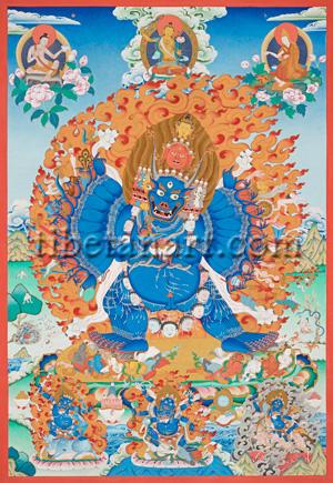 Vajrabhairava (yamantaka), Solitary Hero Giclee Print by