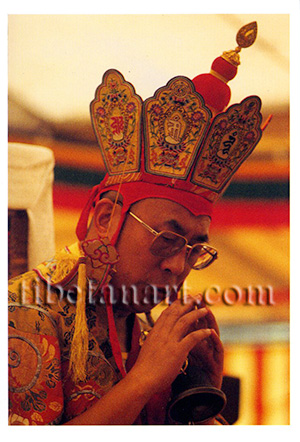 H.H. Dalai Lama Giving Kalachakra Initiation