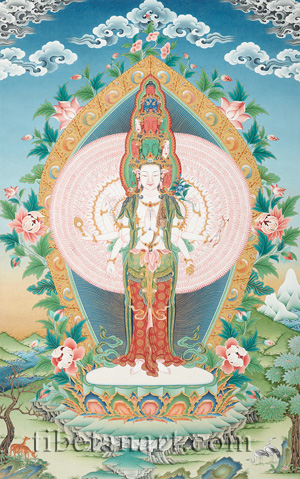 Thousand-armed Avalokiteshvara (Chenrezig)