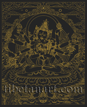Guhyasamaja [Gold On Black]