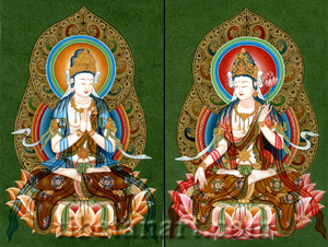 Kuan Yin and Avalokiteshvara Seated
