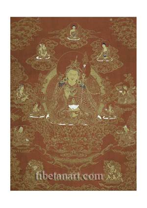 Padmasambhava and His Eight Manifestations