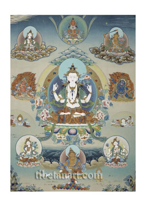 Four-armed Avalokiteshvara Composition