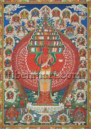 Thousand-armed Sristhikanta Lokeshvara