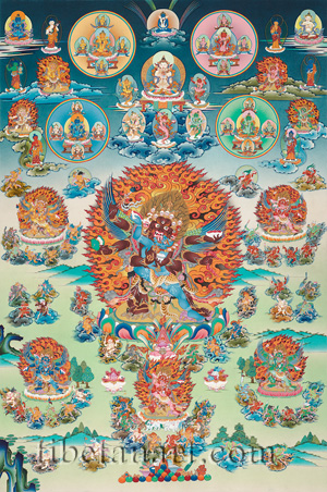 Bardo Mandala of Peaceful and Wrathful Deities